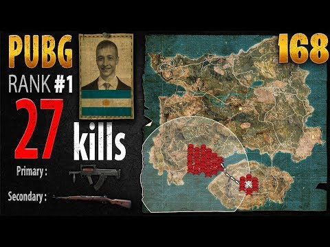 PUBG Rank 1 - p0me 27 kills [SA] SOLO TPP - PLAYERUNKNOWN'S BATTLEGROUNDS #168
