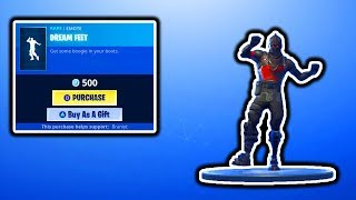 FORTNITE NEW DREAM FEET EMOTE! FORTNITE NEW ITEM SHOP UPDATE! FREE VBUCKS SKINS GIVEAWAY