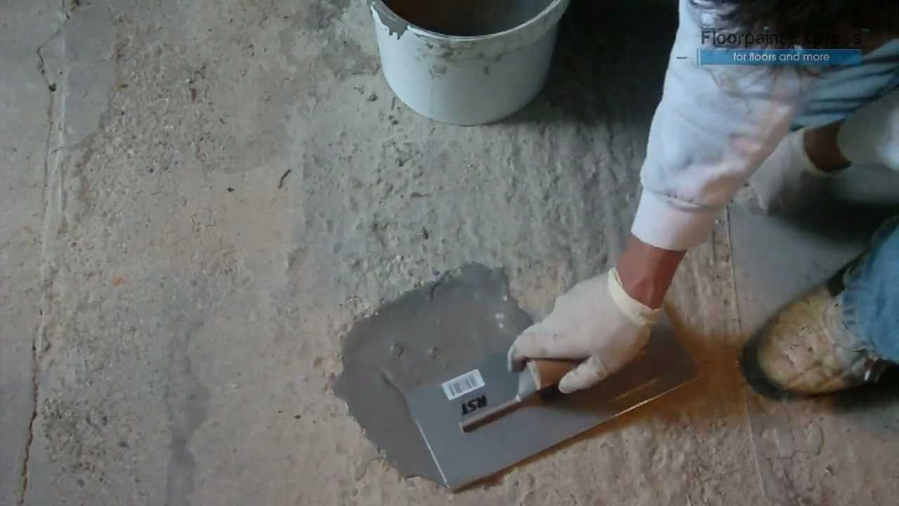 how to fix large chunks out of concrete wall