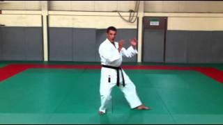 Karate - Kokutsu Dachi : Jambe arrière fléchie [Karate-Blog.net]