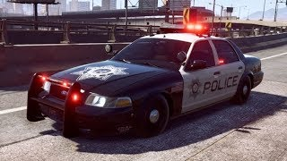 Need for Speed Payback - Police Ford Crown Victoria - Abandoned Car