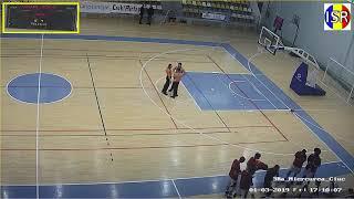 Andre Pierce (6'10/F #1/White Jersey) Game Film - Top Division Romania
