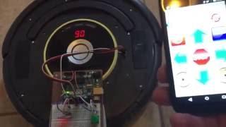 اي روبوت روومبا/اردوينو التحكم عن طريق BT/الروبوت