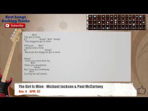 The Girl Is Mine - Michael Jackson & Paul McCartney Bass Backing Track with scale, chords and lyrics