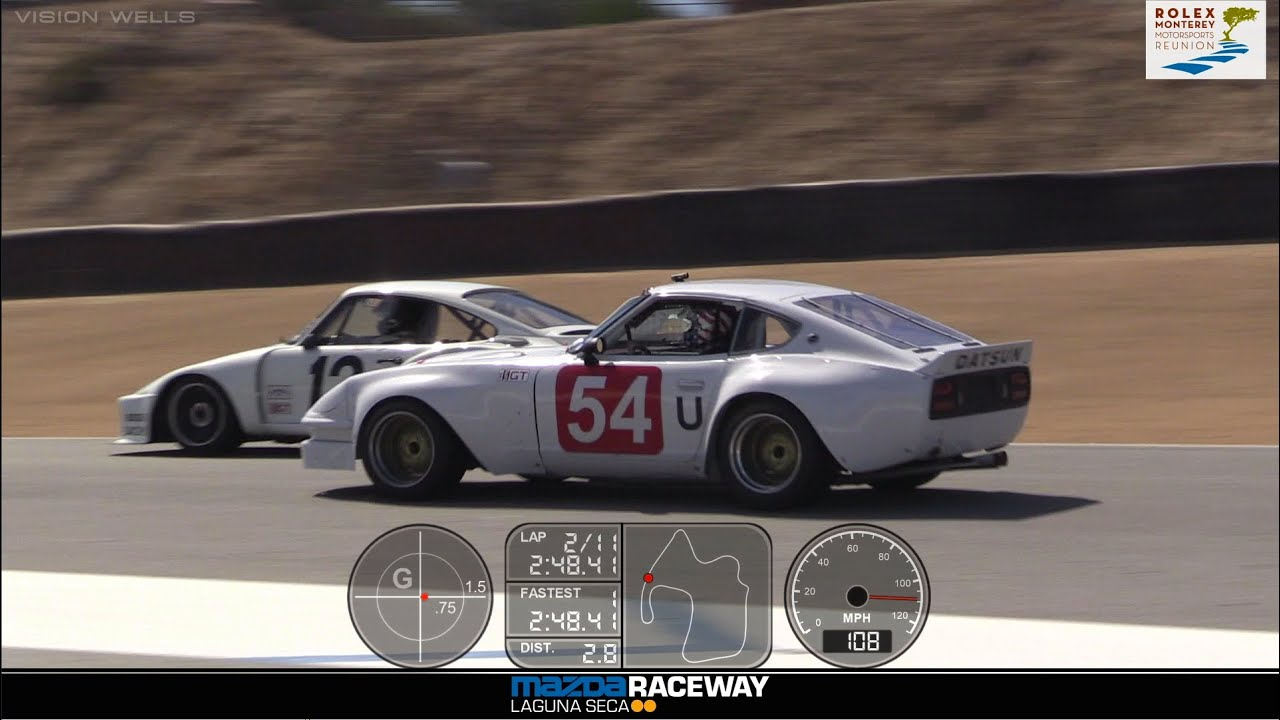 2015 Reunion  Rolex Race 4A  Car 54 1970 Datsun 240Z  YouTube