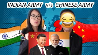 Chinese wife reacts to India vs China  | Who would win? 🤔 | Army / Military Comparison 2020 🇮🇳 🇨🇳