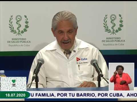 Conferencia de Prensa: Cuba frente a la COVID-19 (18 de julio de 2020)
