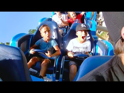 KIDS HILARIOUS ROLLER COASTER REACTION!! Lagoon Amusement Park (part 1)