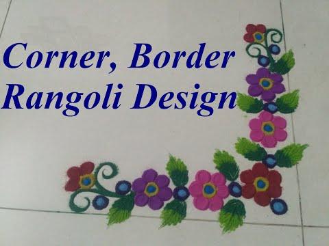 Corner Border Rangoli design ...