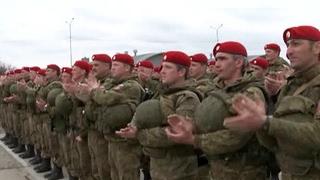 Чеченские военные вернулись из сирийской командировки