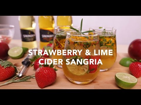 Strawberry & Lime Cider Sangria