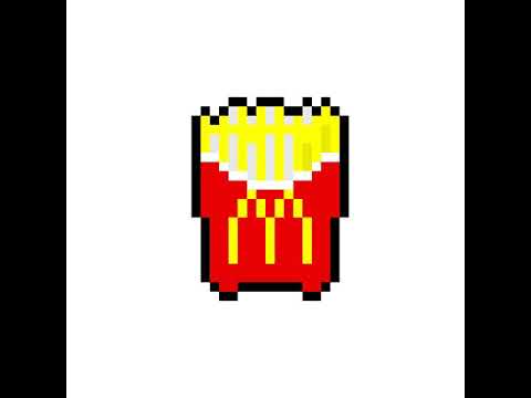 Pixel Art Frites 2 Youtube