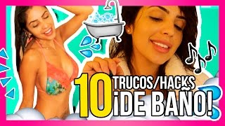 10 TRUCOS I HACKS DE BAÑO ideas que debes probar! - Jackie Hernández
