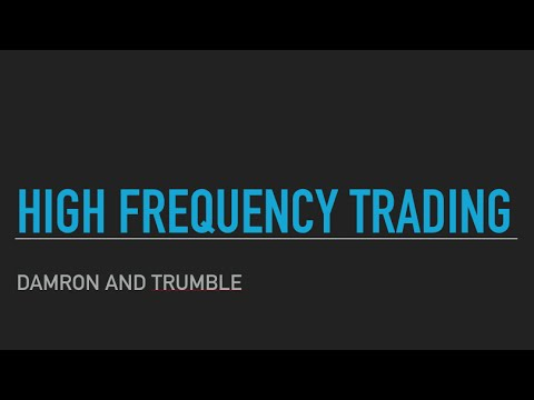 High Frequency Trading - Securities Regulation Podcast 2016
