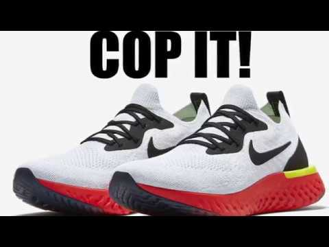 26364571a50 Nike Epic React Flyknit True White Pure Platinum Bright Crimson Black