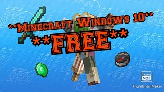 How To Get Minecraft Windows 10 Edition For Free 2019