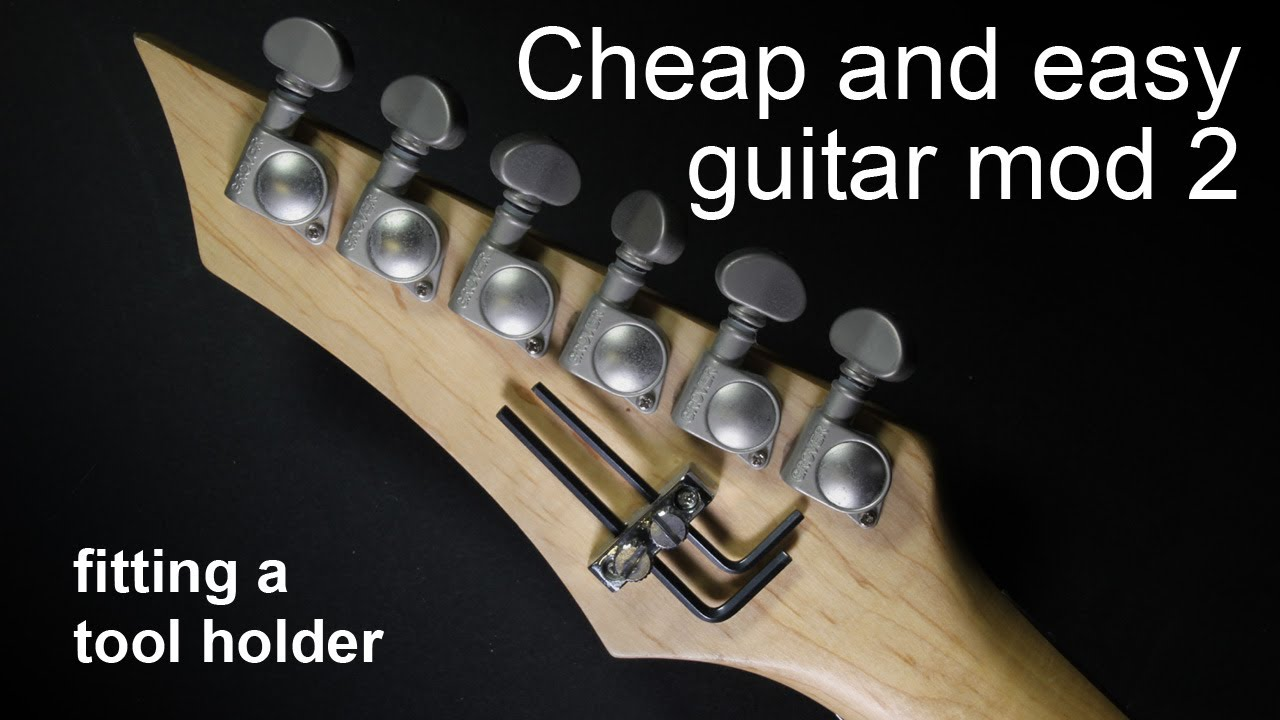 Cheap And Easy Guitar Mod 2 Fitting An Allen Key Tool