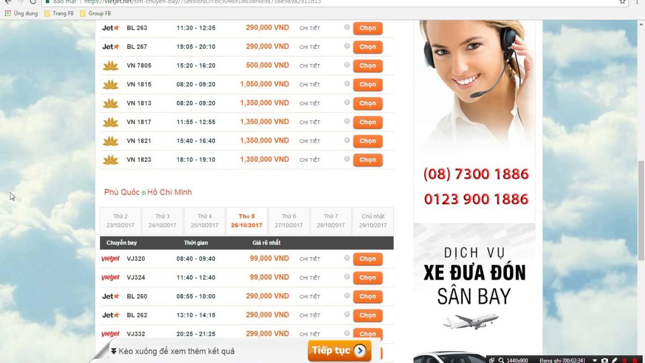 Đặt vé máy bay đi Phú Quốc giá rẻ 90.000 đồng