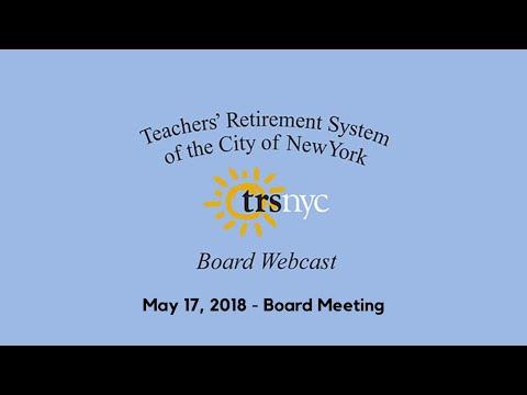 May 17, 2018 Board Meeting