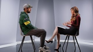 Aaron Rodgers and Erin Andrews NFC Playoffs on FOX