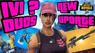 NEW HEAVY SNIPER UPDATE SQUADS OR DUOS WITH SUBS FORTNITE BATTLE ROYALE