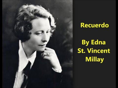 edna st vincent millay i shall forget you presently my dear
