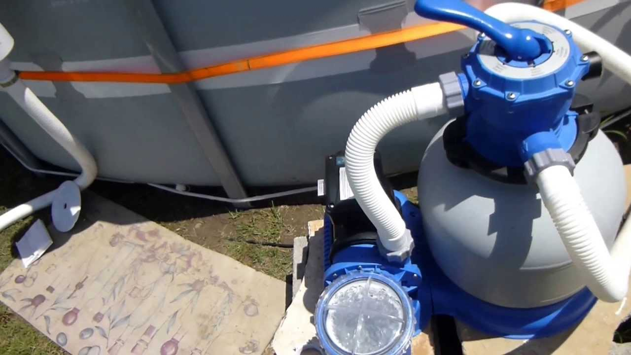 Intex Pool Wall Skimmer Install Youtube