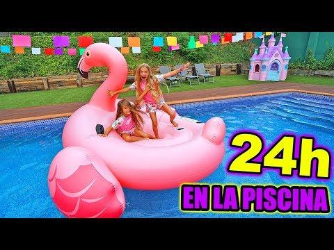 24 horas en la PISCINA con Las Ratitas!! SaneuB