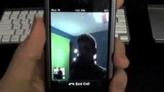 iPhone Skype Video Call Test