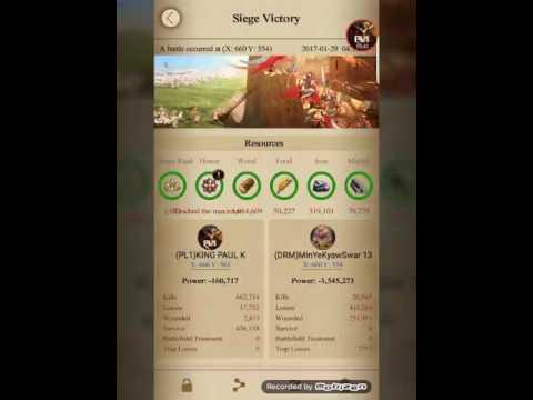 clash of king :kingdom conquest 261 vs 66