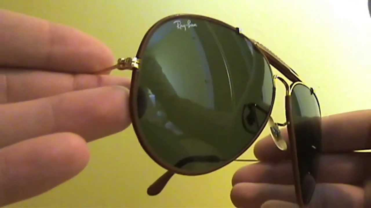 f90a9979dc Vintage Ray-Ban Outdoorsman 62 mm Bausch   Lomb - Leathers - YouTube