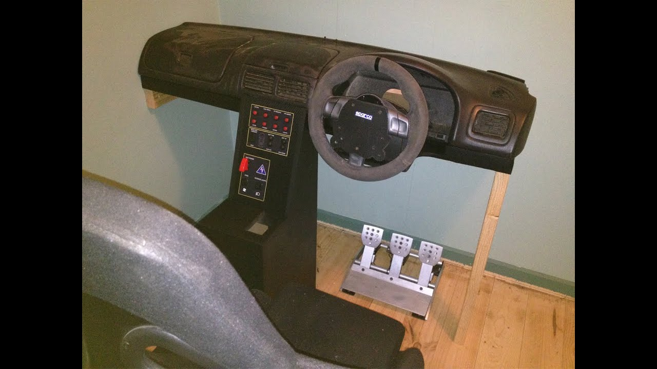 Diy sim racing cockpit build youtube for Build your own house simulator