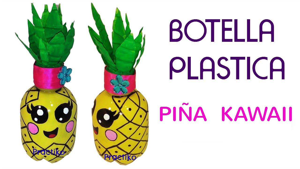 Botella De Plastico Reciclado En Forma De Pina Kawaii Manualidades