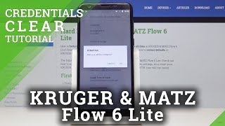 How to Remove All Certificates in KRUGER & MATZ Flow 6 Lite - Clear Credentials