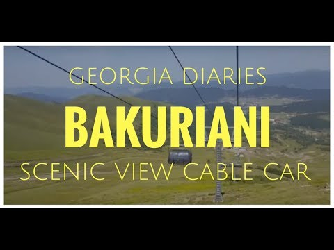 Travel Diaries - Beautiful Landscape from Cable Car in Bakuriani, Georgia (Europe)