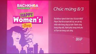 Happy Women's Day Bachkhoa-Aptech