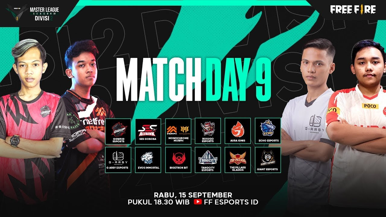 [2021] Free Fire Master League Season IV Divisi 2 - Match Day 9