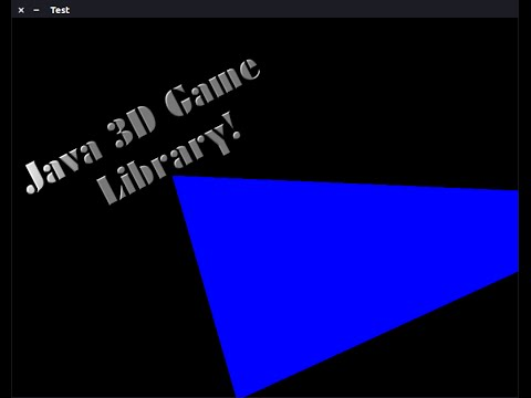 how to create a 3d game in java