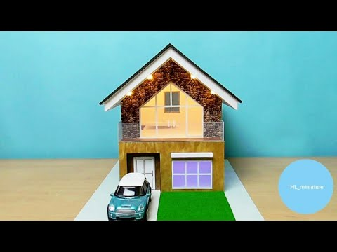 Building A Beautiful Modern House From Cardboard | Miniature House Easy #17