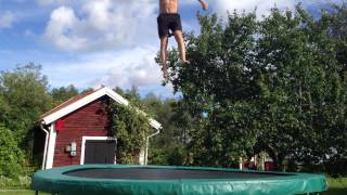 my first full in back out on garden trampoline