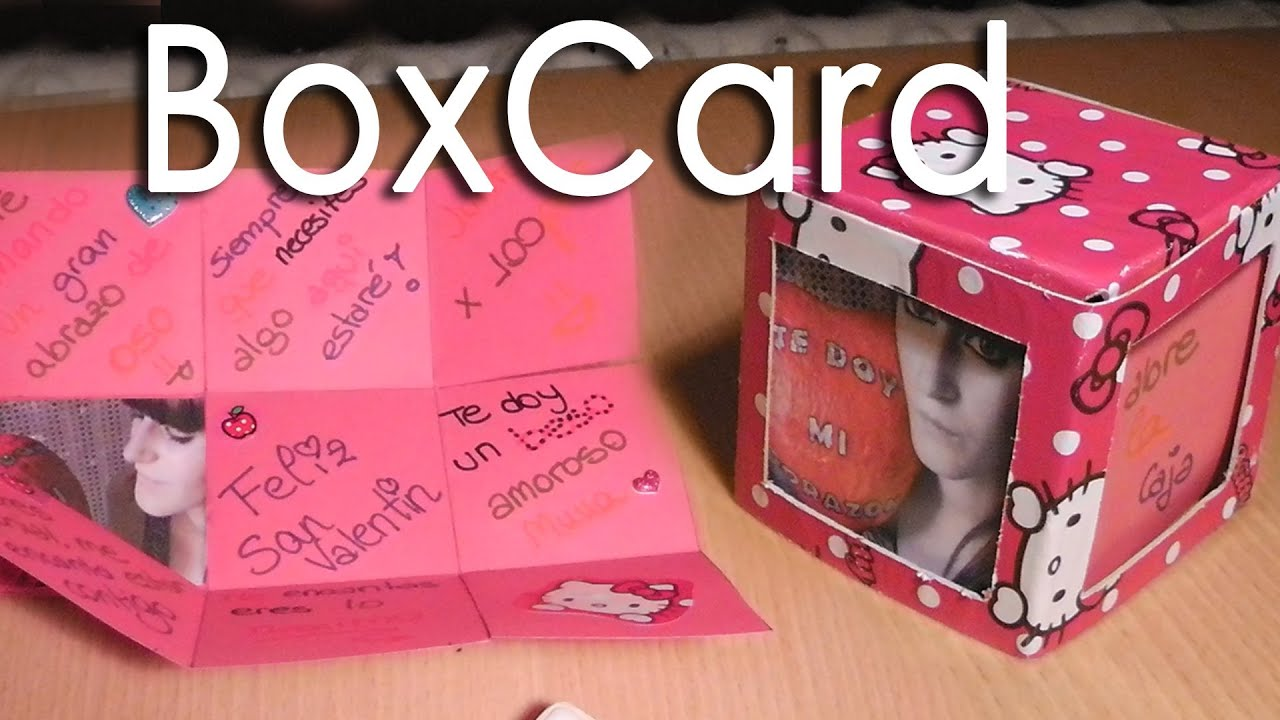 Scrapbook boxcard caja explosiva manualidad para san - Album para san valentin ...