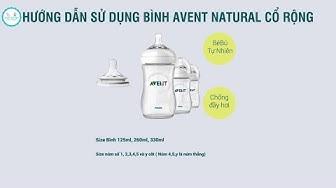 Hướng Dẫn Sử Dụng Bình Sữa Avent Natural Cổ rộng Hiệu Quả- Bố Ken