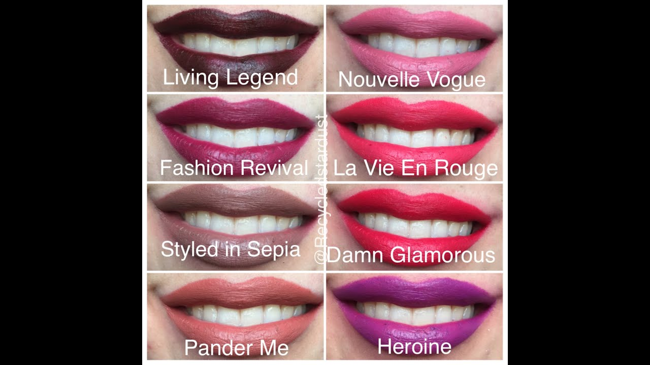 Fabuleux MAC The Matte Lip Collection Review Dupes Lip Swatches - YouTube DR19