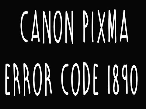 Canon Pixma Error 1890