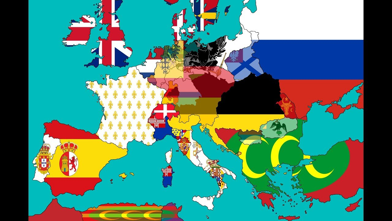 Flag Map Spped Art - Europe in 1815 - YouTube