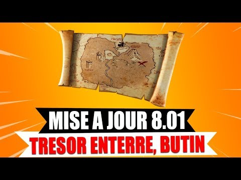 """NOUVEAU TRESOR ENTERRÉ, BUTIN CACHÉ"" (MAJ 8.01) sur FORTNITE BATTLE ROYALE ! thumbnail"