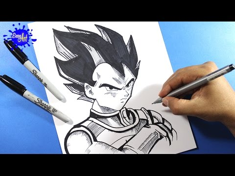 Como dibujar a vegeta l how to draw vegeta l Dragon ball la