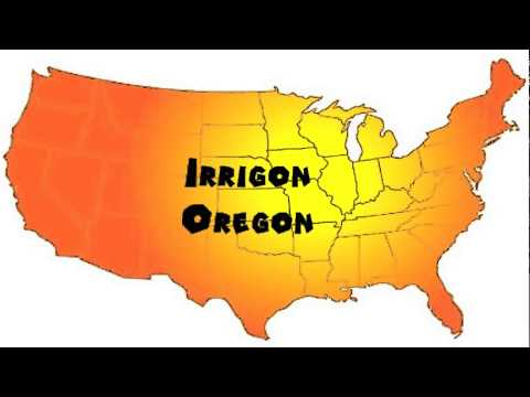Irrigon Oregon Map.How To Say Or Pronounce Usa Cities Irrigon Oregon Youtube