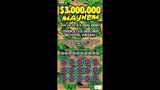 $10 $1MILLION MAYHEM NEW - WIN! Lottery Bengal Scratch Off instant tickets   NEWER TICKET WIN!!