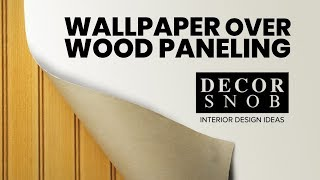 Wallpaper Over the Wood Paneling